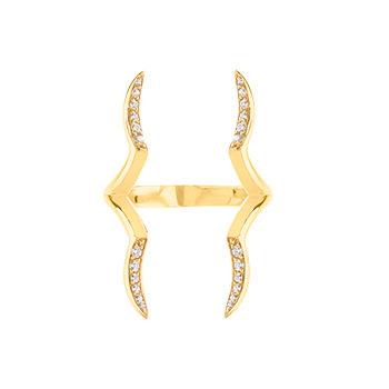 Zamia Ring White Sapphires